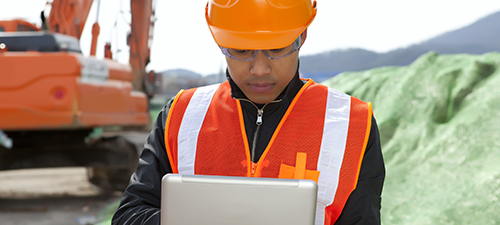 heavy equipment inspection mobile data collection